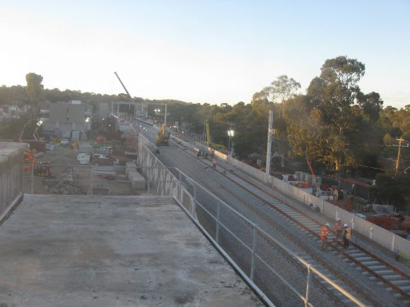 Clayton station re-opens, works continue at Rosanna