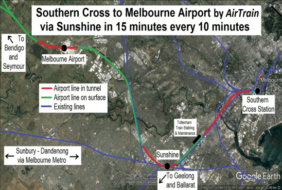 Rail Futures Institute calls on Melbourne Airport Rail Link to be built for all Victorians