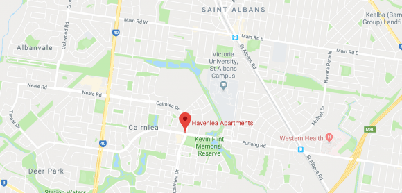 Location of the Havenlea apartments site. Image by Google Maps.