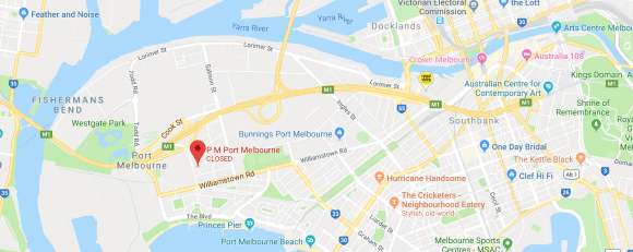 Location of PM Port Melbourne. Image by Google Maps.