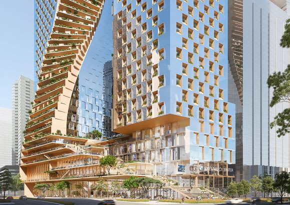 Southbank by Beulah: UN Studio & COX Architecture - The Green Spine