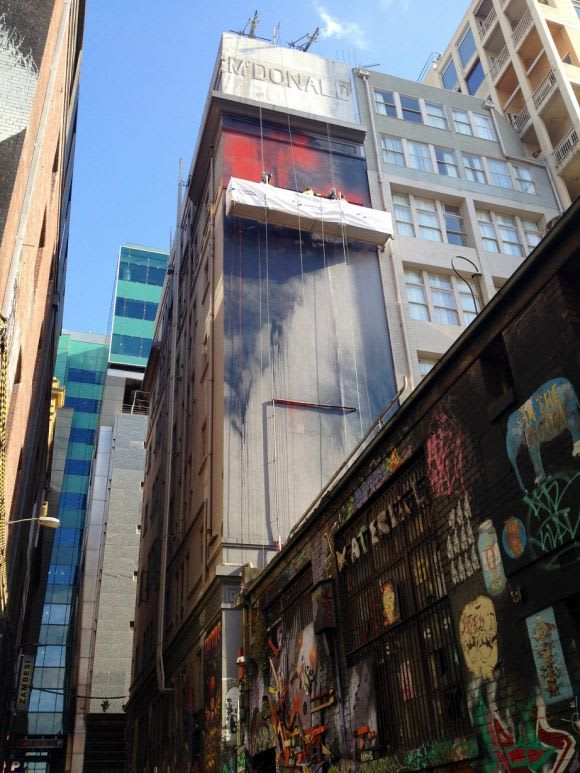 Paint Up! Hosier Lane reaches for the sky