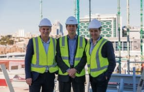 Botanical Subiaco apartment development team celebrates topping out