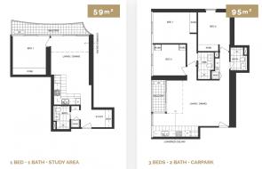 Melbourne Grand floor plans