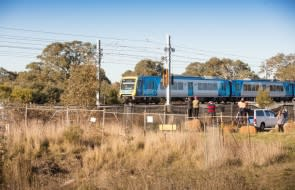 Test trains start rolling on the new rails to Mernda