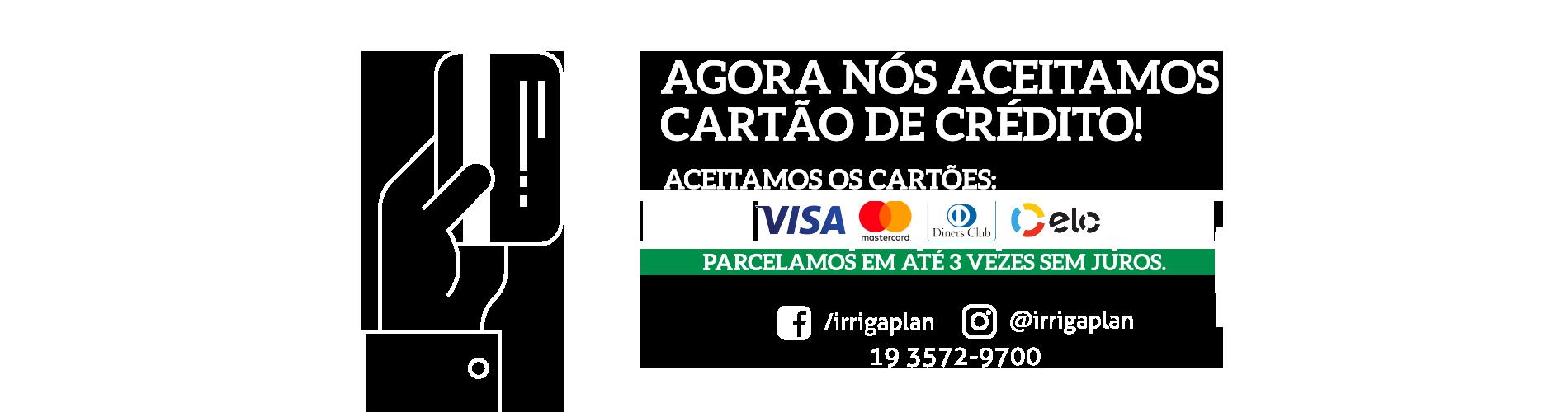 Banner cartao credito informações - Irrigaplan