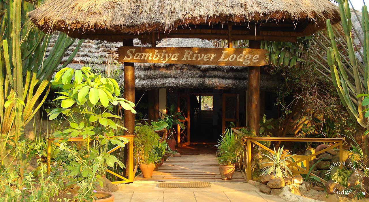 Sambiya River Lodge entry