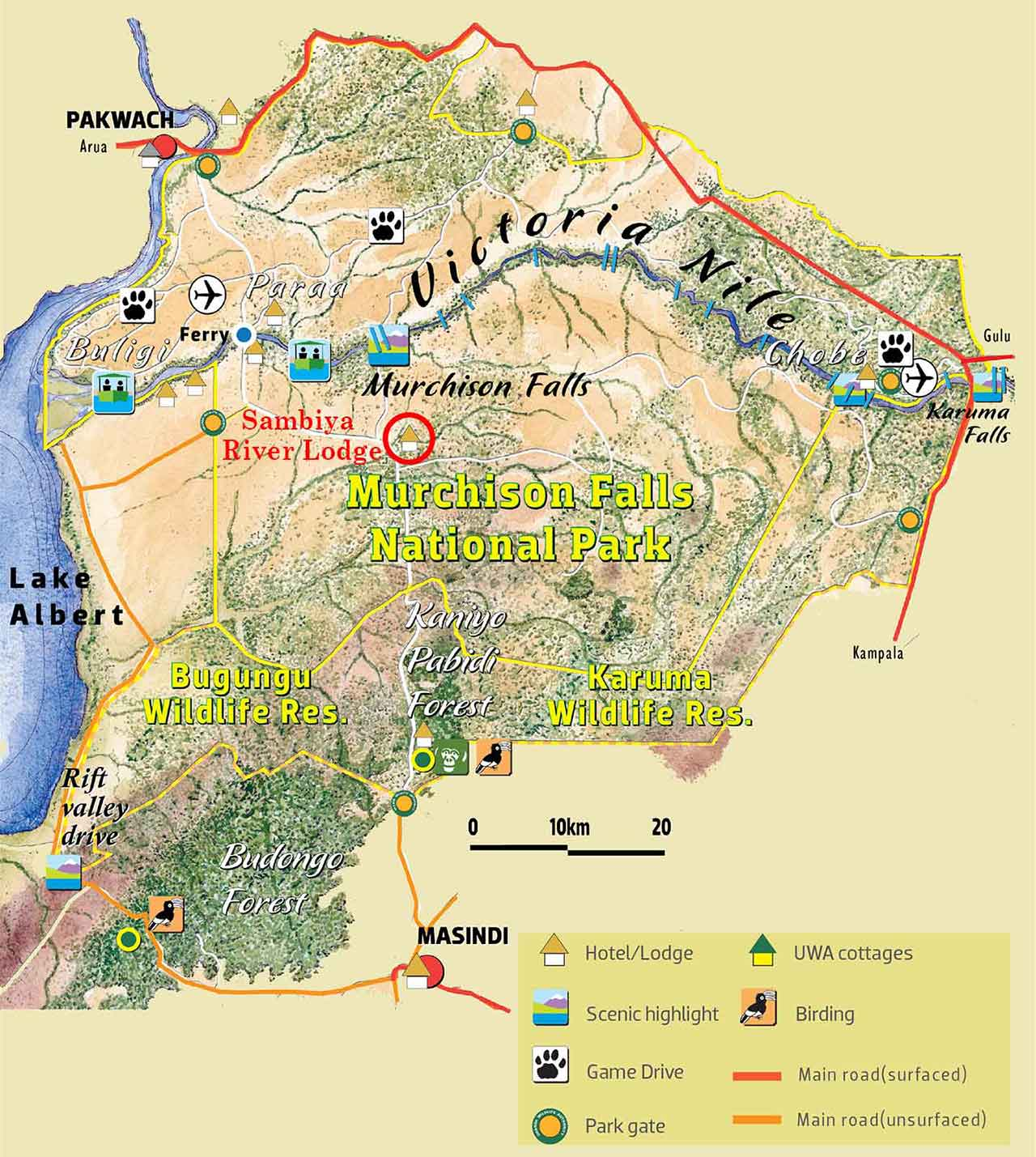 Map Sambiya River Lodge