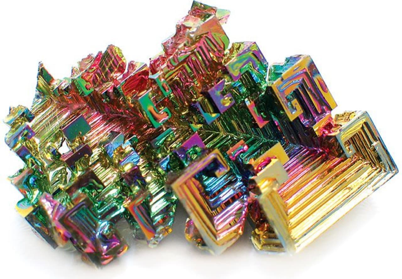 Bismuth Crystal grows like this. It can levitate frogs.