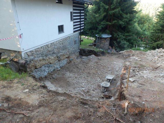 Přístavba penzionu - Harrachovpřed