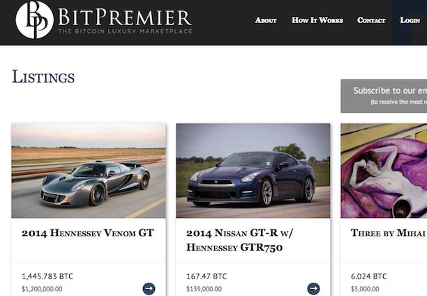 bitpremier luxury bitcoin marketplace
