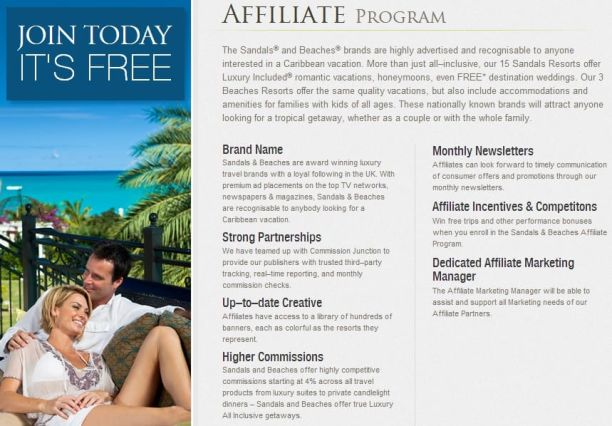 Sandals Resorts Affiliate Program