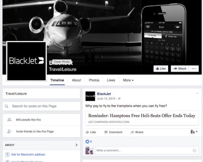 blackjet facebook bleh