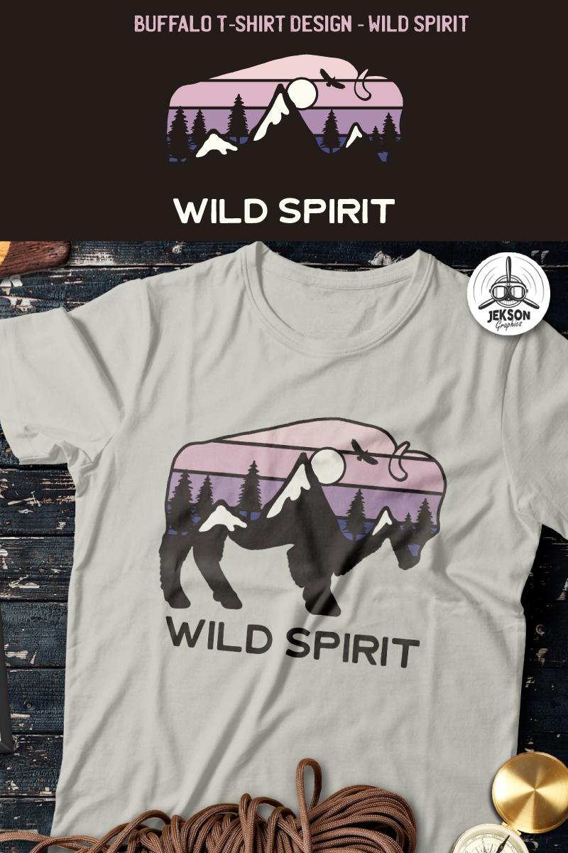 Buffalo Design - Wild Spirit T-shirt