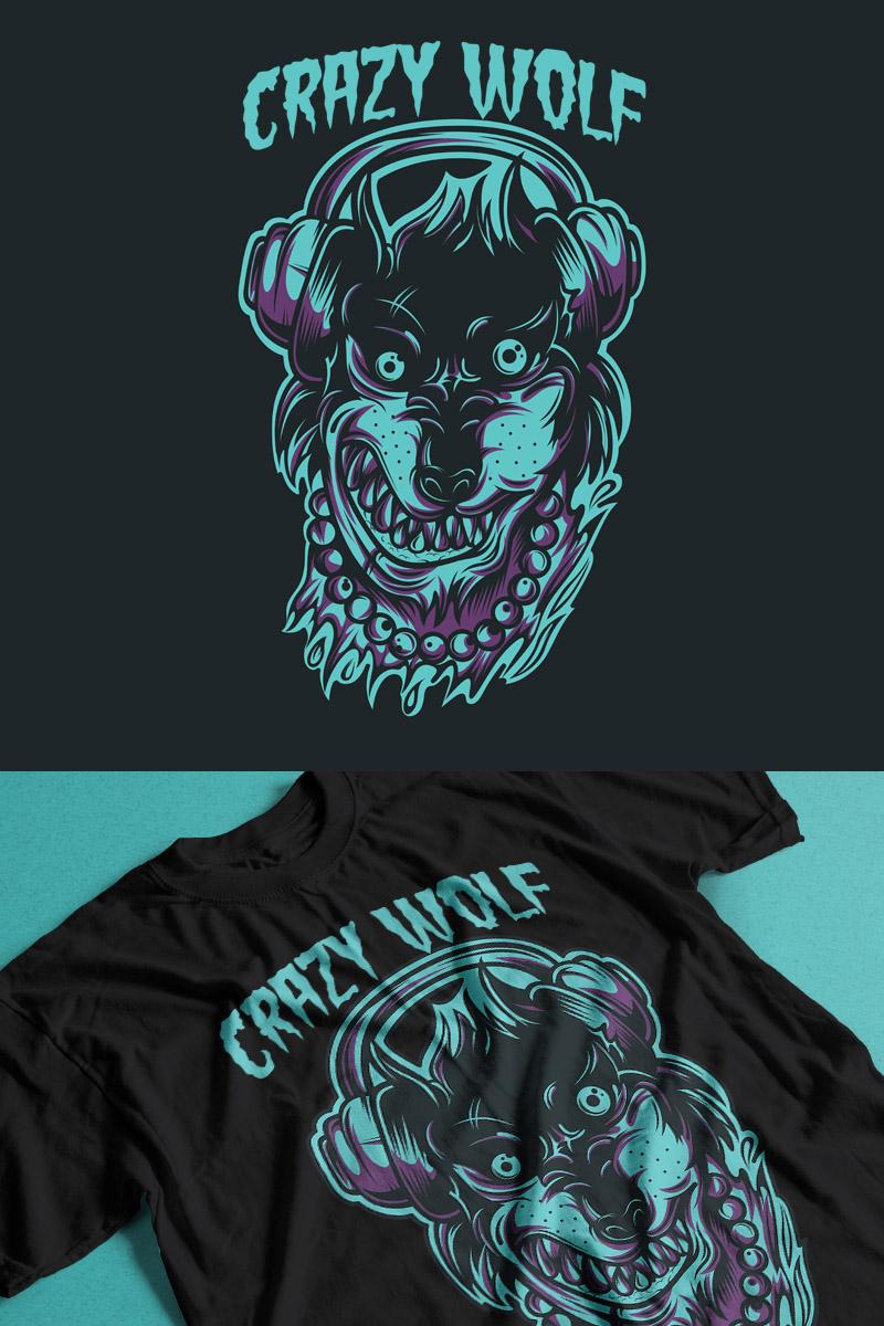 Crazy Wolf T-shirt