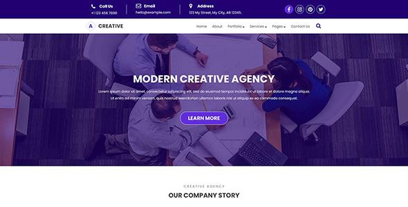 Creative - Agency PSD Template
