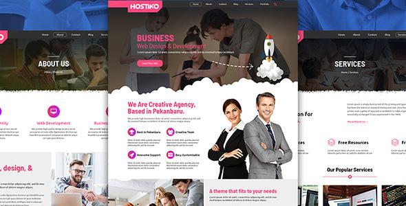 Hostiko - Web Design Company PSD Template