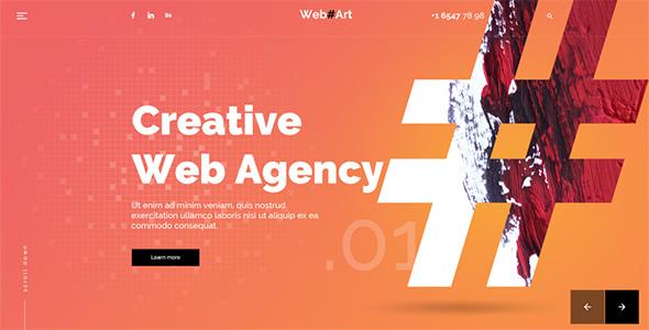 WebArt - Web Design Simple Creative PSD Template