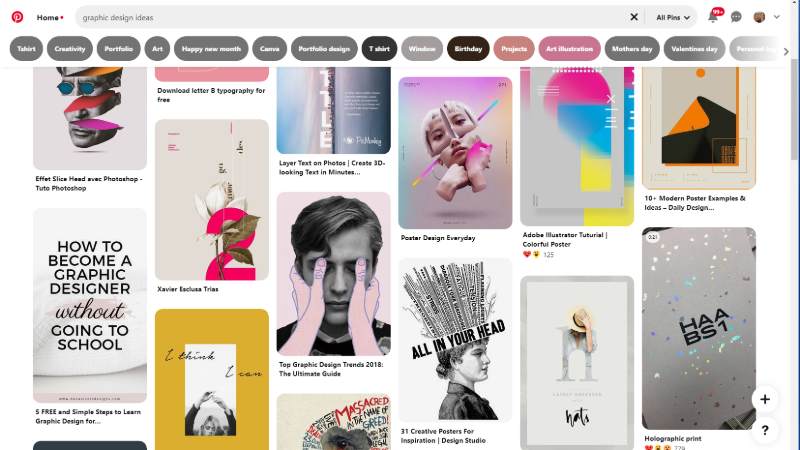 Pinterest for graphic designers