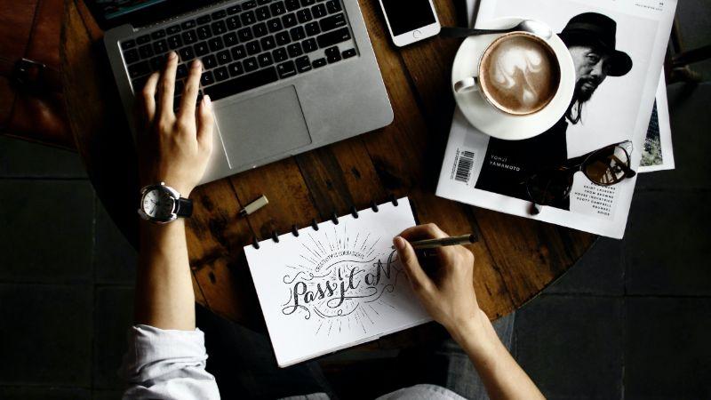 Create a graphic design portfolio