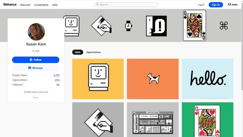 Susan Kare design portfolio