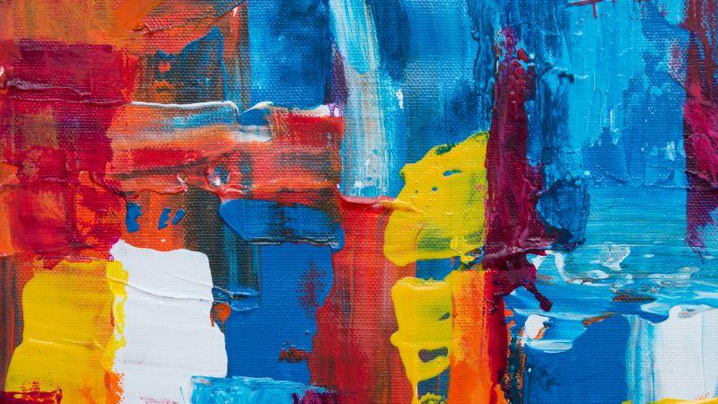 Impasto acrylic painting technique
