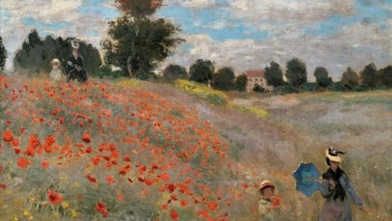 Finishing a landscape painting