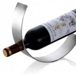 JustForDecor Wine Bottle Holder Crescent Shape