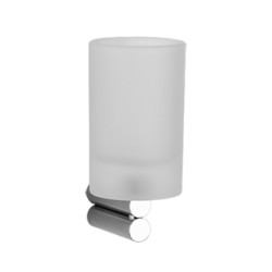 Gessi Wall-Mounted Tumbler Holder With Satined Glass tumbler