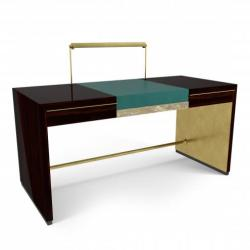 Marioni Trevor Two Drawers Writing Desk-02727G