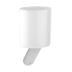 Gessi Wall-Mounted Tumbler Holder With White Ceramic tumbler