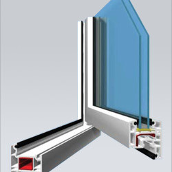 Veka AD58 Casement window (Inward open able) Window