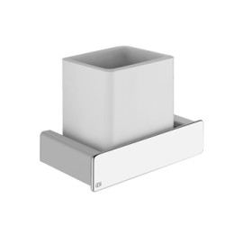 Gessi Wall-Mounted Tumbler Holder White tumbler holder