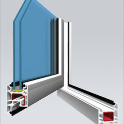 Veka AD50 Casement Window (Outwards Opening) System window