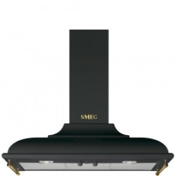 Smeg Wall Decorative Hood, 90 Cm, Cortina, Anthracite, Energy Rating A