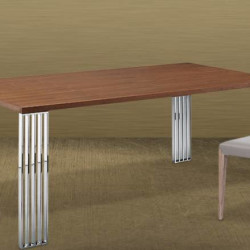 Furniturewalla Vetro Walnut Dining Table