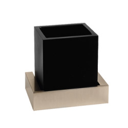 Gessi Wall-mounted Tumbler Holder Black tumbler holder rettangolo 2