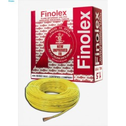 Finolex FINOLEX FLAME RETARDANT PVC INSULATED INDUSTRIAL CABLES 1100 V AS PER IS 694/1990 - Yellow - 1.5 sq. mm -- 90 M COIL Finolex FINOLEX FLAME RETARDANT PVC INSULATED INDUSTRIAL CABLES 1100 V AS PER IS 694/1990 - Yellow - 1.5 sq. mm -- 90 M COIL 10304133