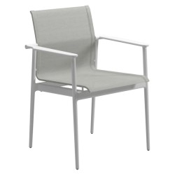 Gloster 180 Stacking Chair With Arms (white / Seagull) large