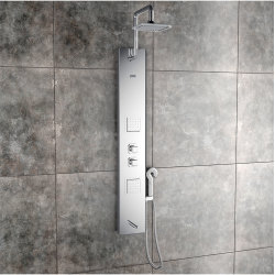 Jaaz Pearl Steel Matte Shower Panel Pearl-Steel-Matte