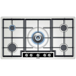 Siemens The Gas CookTop With a Stainless Steel Surface