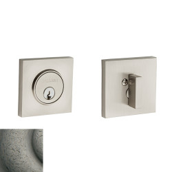 Baldwin Contemporary Square Deadbolt-8220.452 452-distressedantiquenickel