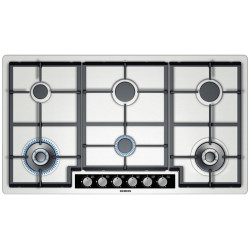 Siemens The Gas Cook Top With a Stainless Steel Surface