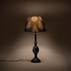 GulmoharLane Cottage Bell Lampshade Small - Midnight Bloom GulmoharLane Cottage Bell Lampshade Small - Midnight Bloom