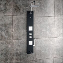 Jaaz Pearl Black Shower Panel Pearl-Black-1-600x603