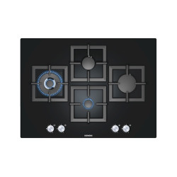 Siemens 70cm Black Hard Glass Gas Hob iQ500 70 cm Black Hard Glass Gas Hob iQ500
