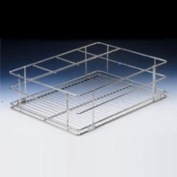 Ebco Right Angle Basket - Half Bottle Rack Ebco Right Angle Basket - Half Bottle Rack RA 15-20-6 HBR
