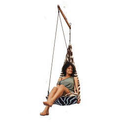 Arambol Flying Chair Zebra – White & Chocolate – Weight Capacity: 90 Kg Hammock-Flying-Chair-Zebra-White-Chocolate.jpg