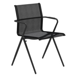 Gloster Ryder Stacking Chair With Arms (meteor / Charcoal) large