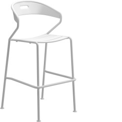 Gloster Curve Aluminium Bar Chair (white) large